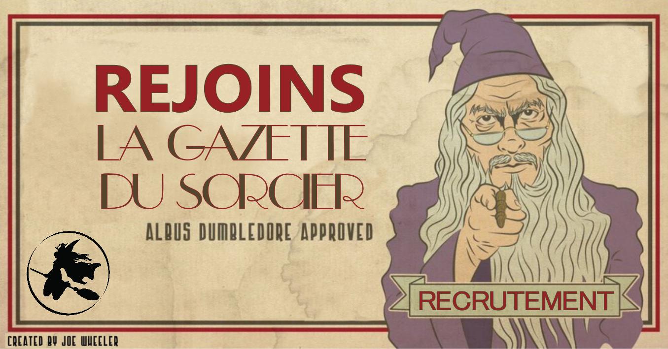 Recrutement – Participer à la Gazette du Sorcier
