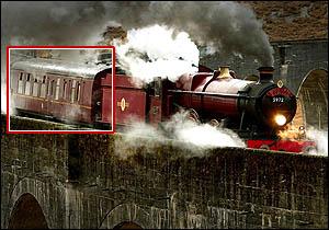 Le Poudlard Express vandalisé