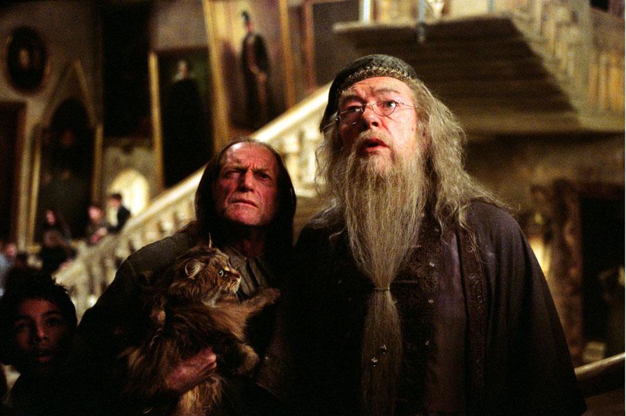 Albus Dumbledore et Argus Rusard