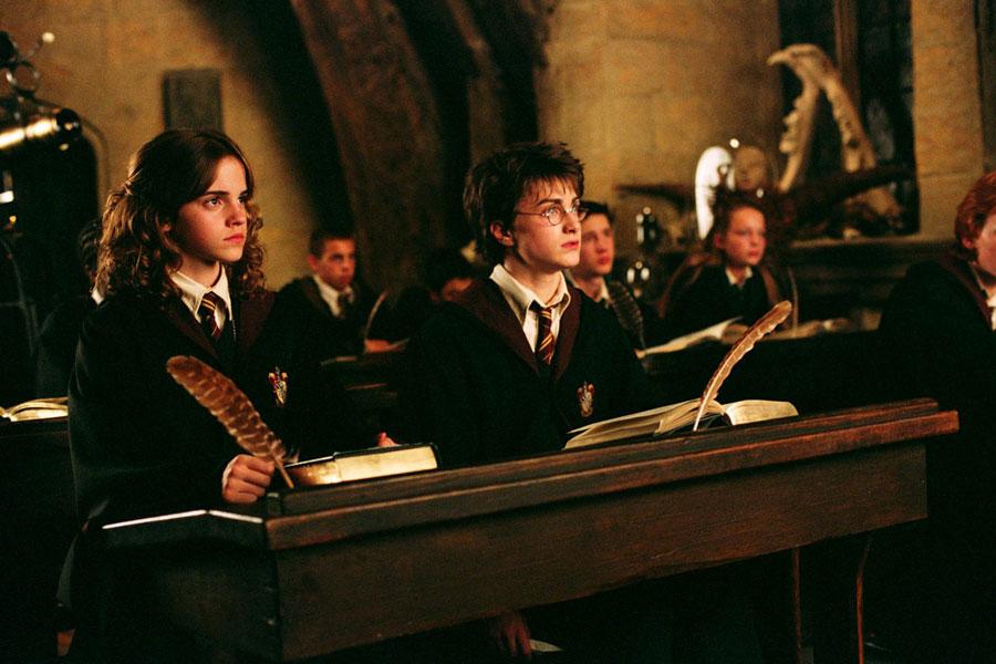 Harry et Hermione en classe de défense contre les forces du mal
