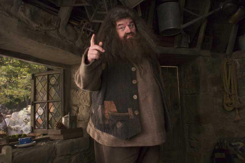 Rubeus Hagrid (Robbie Coltrane) dans sa cabane - Harry Potter et le prisionnier d'Azkaban