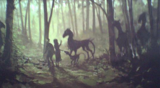 cheval ailé très spécial. Seuls ceux qui ont vu la mort peuvent voir ces créatures.