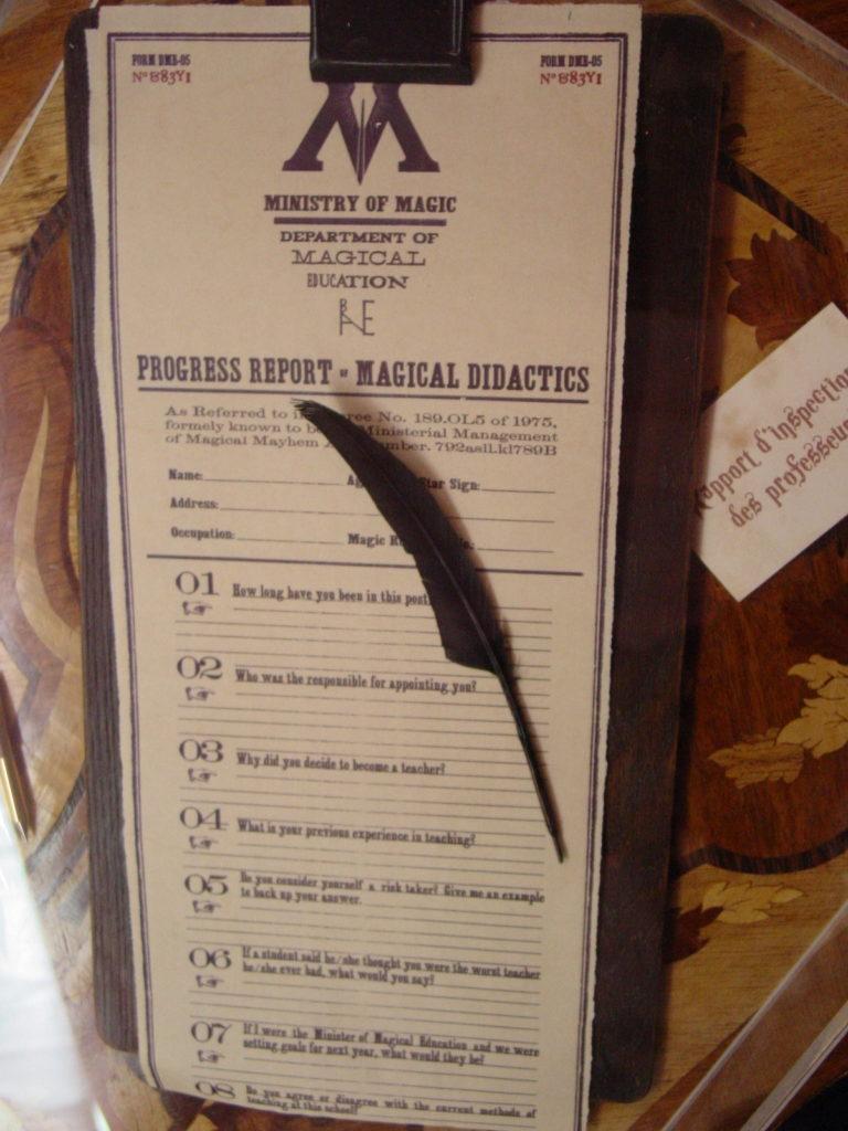 Liste des décrets du ministère de la magie dans le train Harry Potter