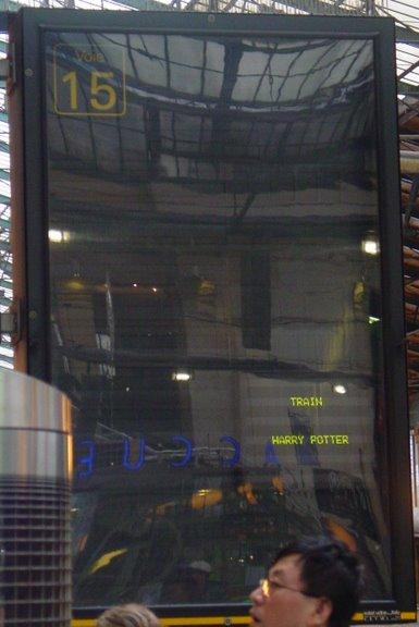 Visite du train Harry Potter