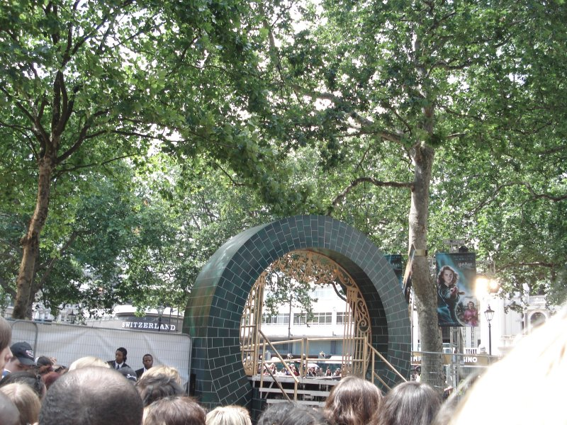 Décors du ministère pour l'vant-première londonienne de Harry Potter 5
