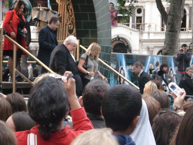 Richard Griffith, alias Vernon Dursley à l'avant-première londonienne d'Harry Potter 5