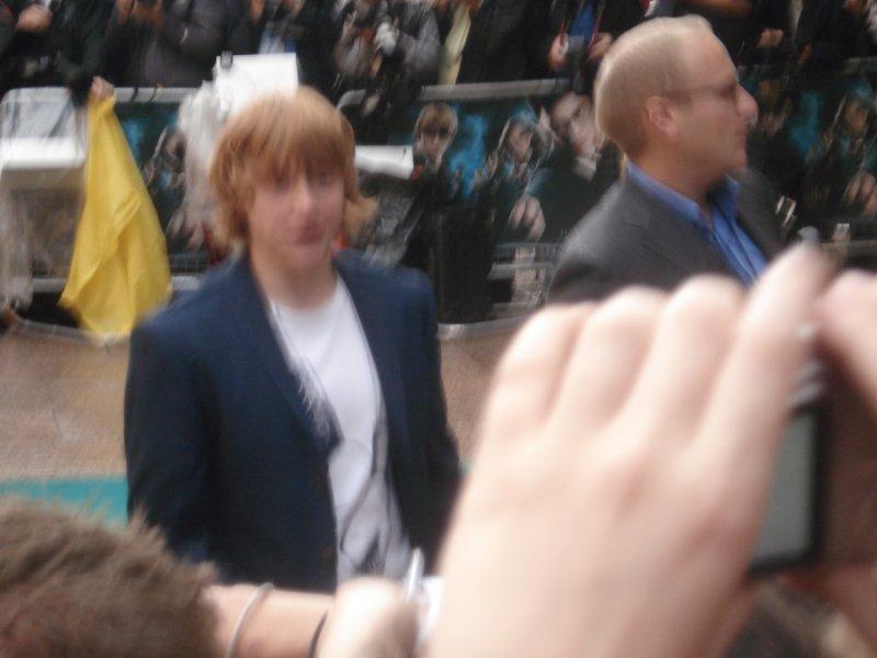 Rupert Grint, alias Ron Weasley, à l'avant-première londonienne d'Harry Potter 5