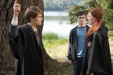 Harry observe ses parents dans la Pensine