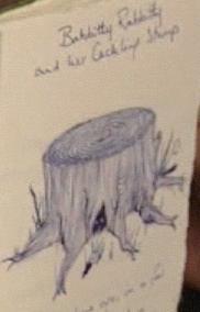 Résumé de «Lapina la Babille et sa souche qui gloussait»