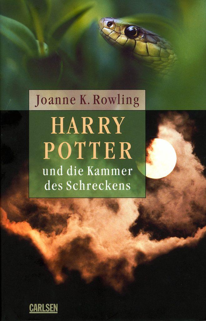 Couverture de Harry Potter et la Chambre des Secrets en Allemand (Harry Potter und die Kammer des Schreckens) ; première édition adulte