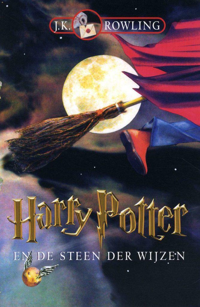 Couverture de Harry Potter à l'école des sorcier en Néerlandais (Harry Potter en de Steen der Wijzen)