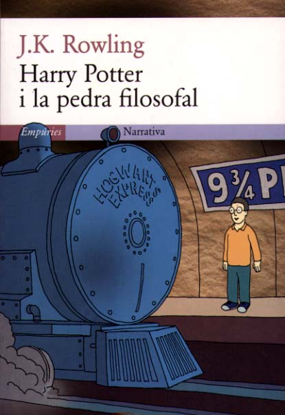 Couverture de Harry Potter à l'école des sorcier en Catalan (Harry Potter y la pedra filosofal)
