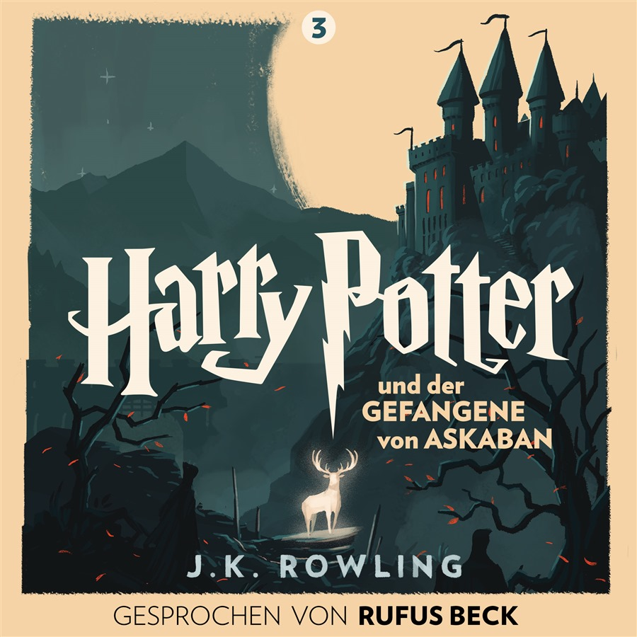 Illustration de Harry Potter et le prisonnier d'Azkaban en Allemand (Harry Potter und der Gefangene von Askaban) ; audiolivre 2016