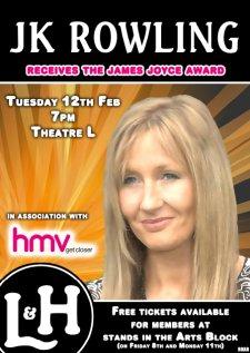 J.K. Rowling reçoit le Prix James Joyce à Dublin