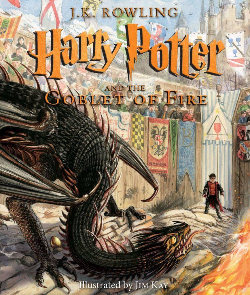 Couverture de Harry Potter and the Goblet of Fire par Jim Kay, édition Bloomsbury
