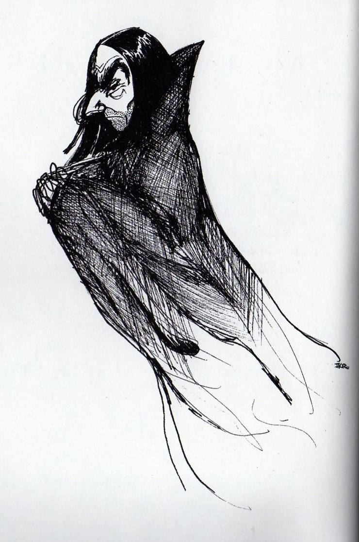 Severus Rogue dessiné par J.K. Rowling