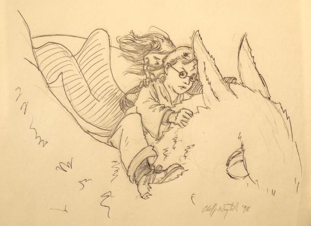 Deux dessins originaux du <i>Prisonnier d'Azkaban</i> mis en vente