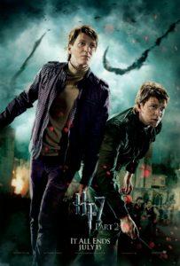Les jumeaux Weasley, héros de le bataille de Poudlard