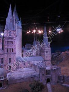 Partie de la maquette de Poudlard visible dans la dernière salle du Studio Harry Potter de Londres.