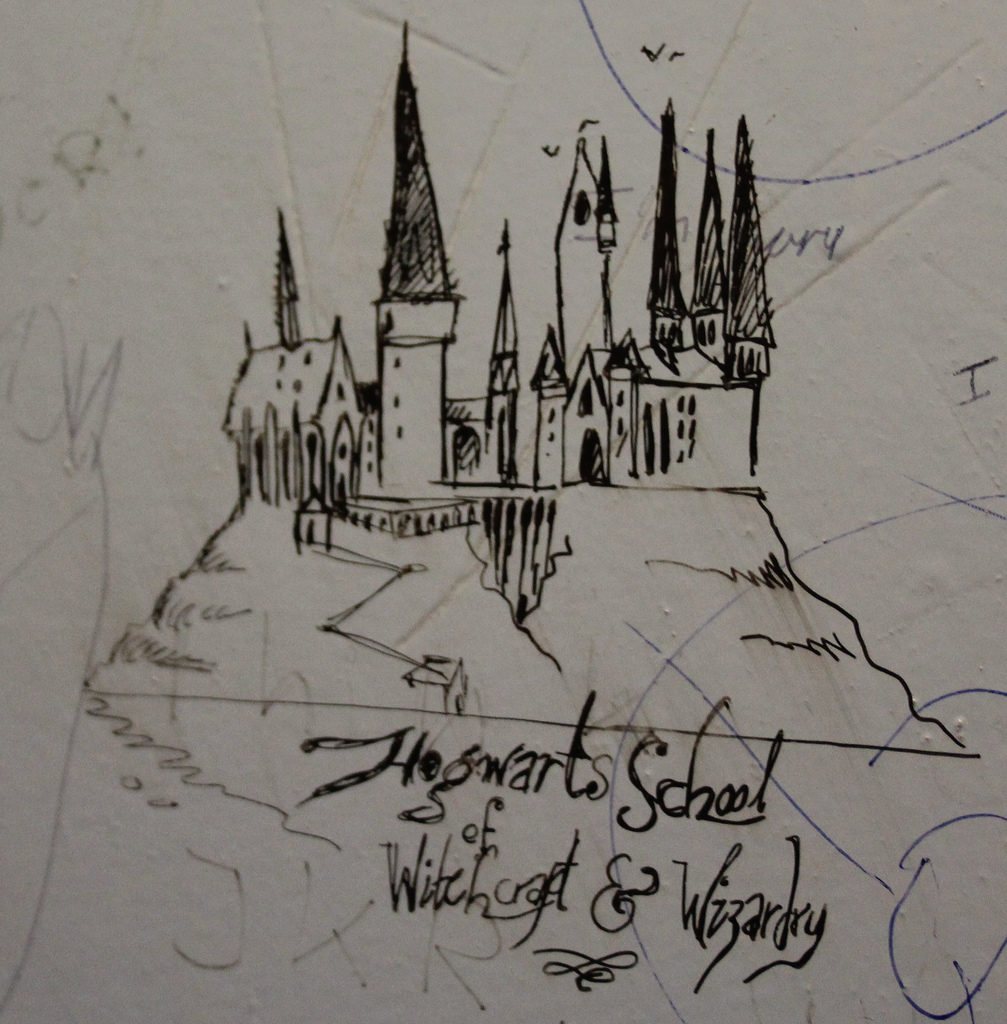 Elephant House Café - graffiti Harry Potter dans les toilettes