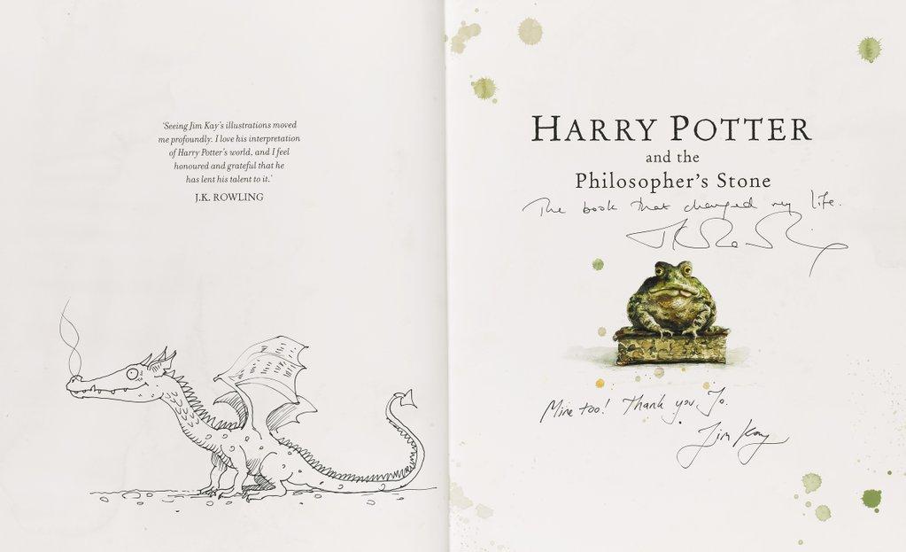 Édition illustrée de luxe signée par JK Rowling en vente