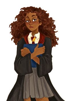 Fanart de Hermione Granger noire par quinnasaurus-creations