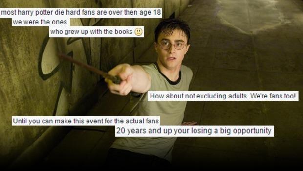Une soirée Harry Potter «reportée» car les fans adultes n'étaient pas conviés