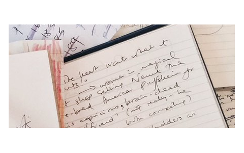 Capture d'écran d'un brouillon sur le site de J.K. Rowling
