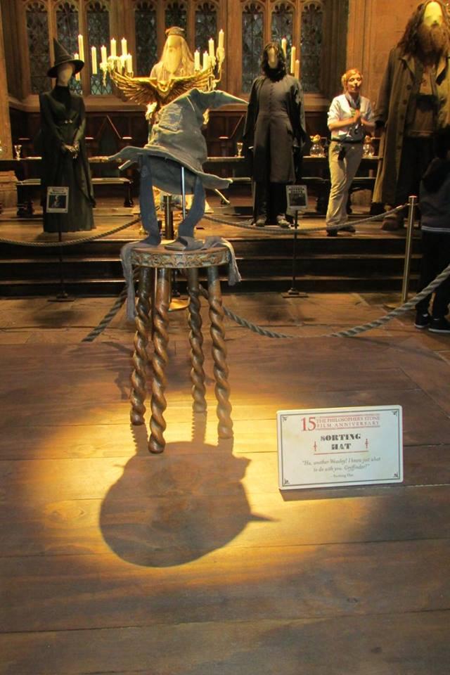 Choixpeau dans la Grande Salle au Warner Bros. Studio Tour London : The Making Of Harry Potter