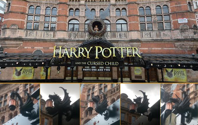 Des bannières pour chaque maison sur le Palace Theatre ?