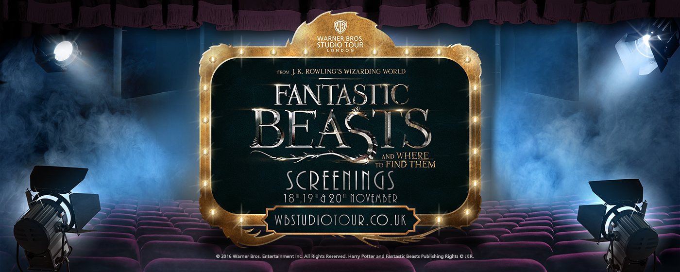 Projections spéciales des Animaux Fantastiques au Studio Tour !