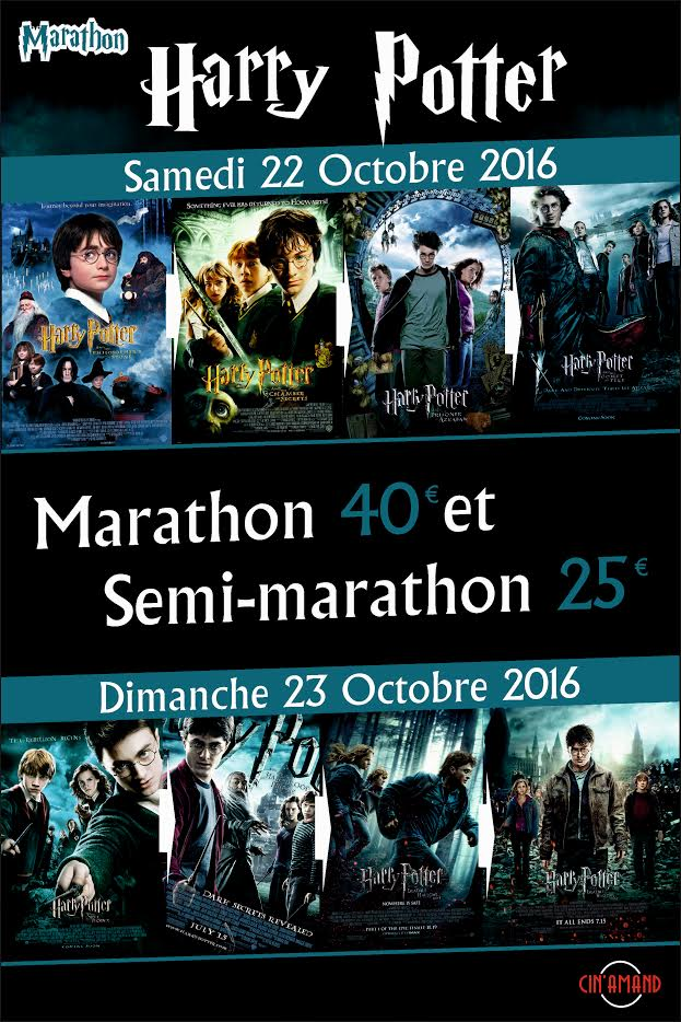 Marathon Harry Potter au Cin'Amand (Valenciennes) : gagnez vos places !