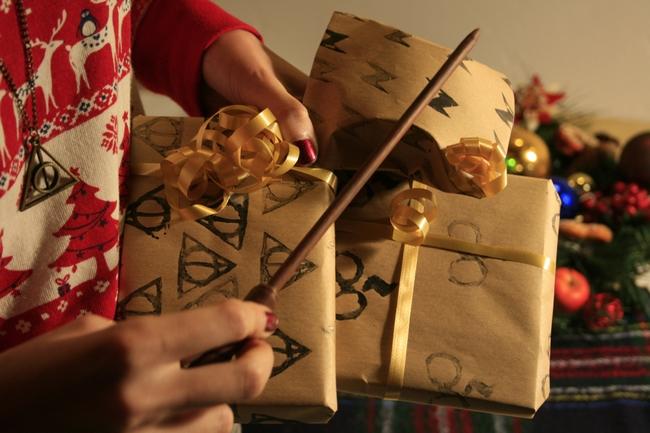 Tutoriel – Papier cadeau Harry Potter