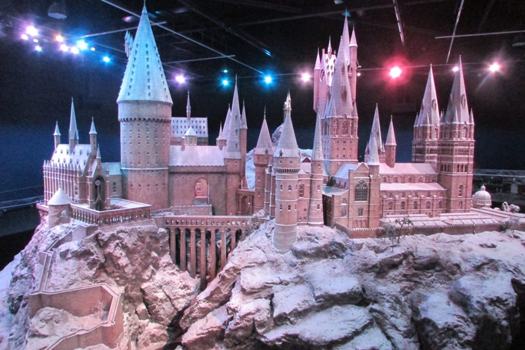 Maquette de Poudlard sous la Neige au Warner Bros Studio Tour: The Making of Harry Potter