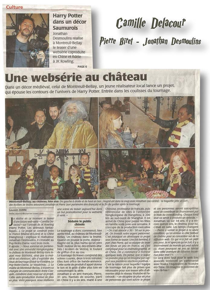 Nouveau projet de websérie Harry Potter sino-française