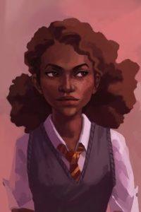Fanart de Hermione noire de peau