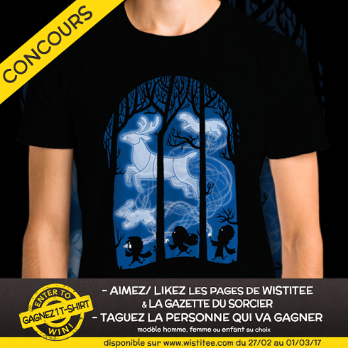 Concours Wistitee : deux t-shirts Patronus à gagner !