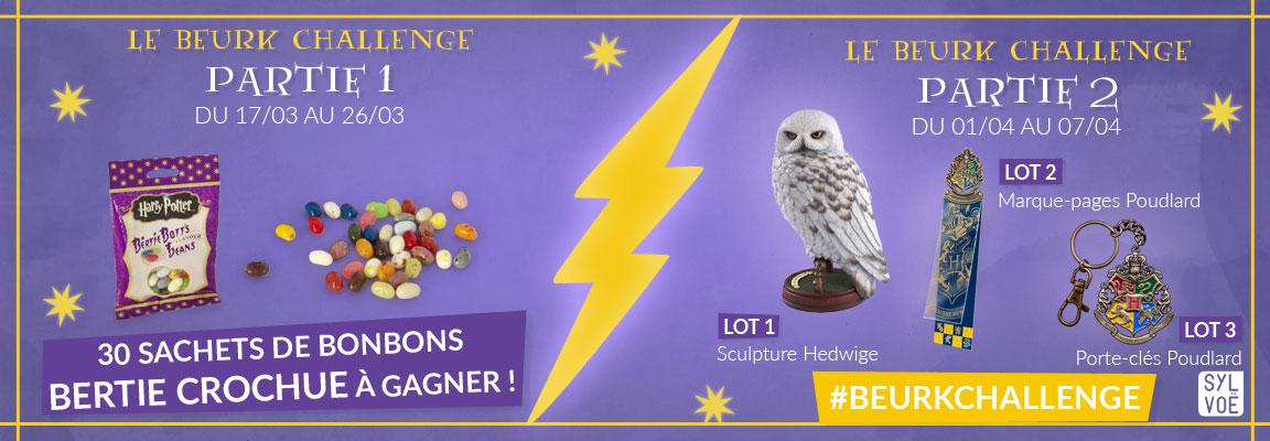#BeurkChallenge Sylvoë : gagnez une statuette Hedwige en mangeant des dragées surprises !
