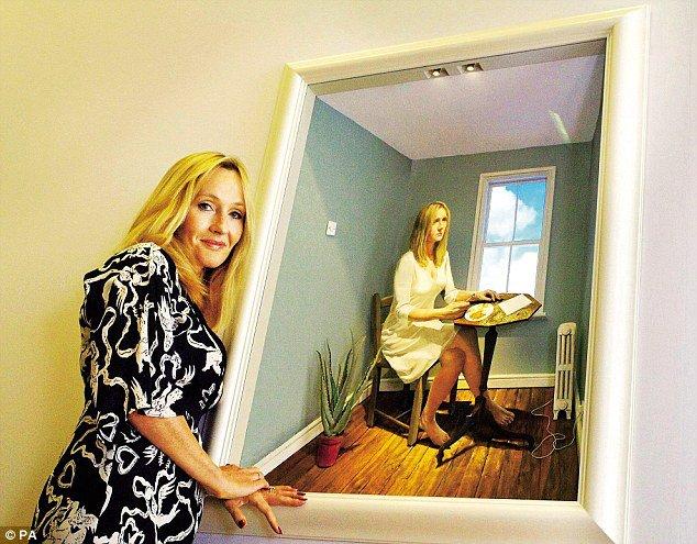 Le portrait 3D de J.K. Rowling exposé à Hull
