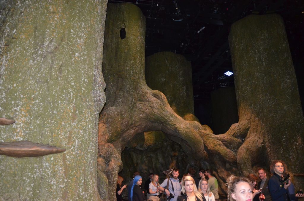 Troncs gigantesques de la Forêt Interdite au WB Studio Tour London