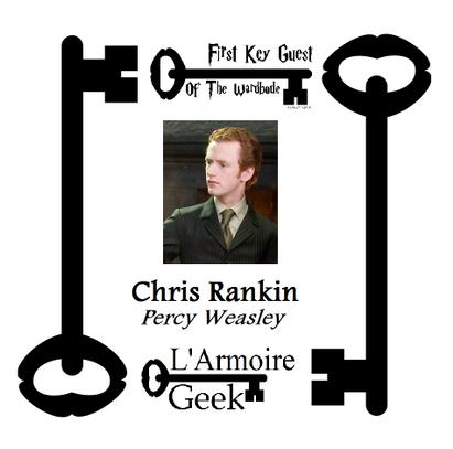 Rencontrez Chris Rankin à Paris avec l'armoire Geek