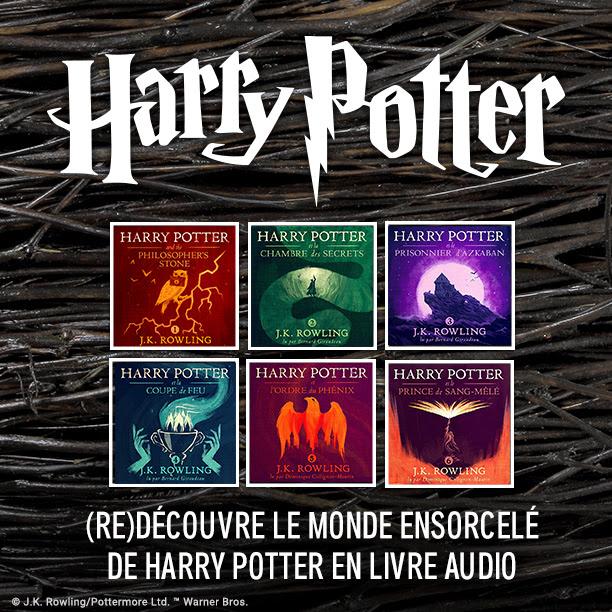 Annonce des audiolivres Harry Potter sur Audible en français