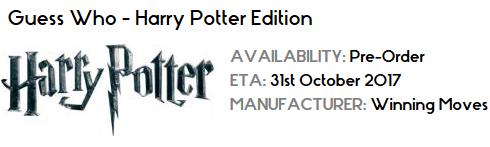 De nouveaux jeux de société Harry Potter