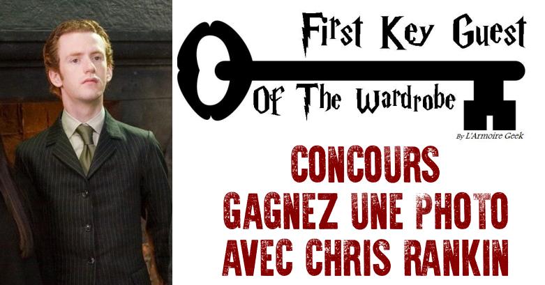 Concours : Gagnez une photo avec Chris Rankin (Percy) à l'armoire geek !