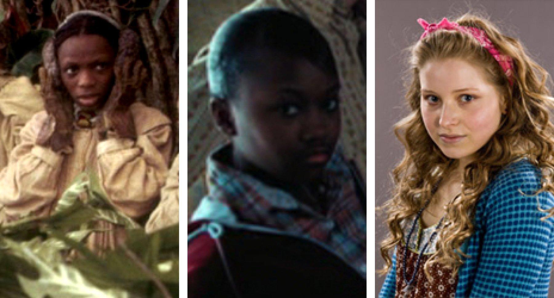 Les trois actrices qui ont incarné Lavande Brown au cours de la saga.