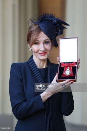 JK Rowling nommée Compagnon d'Honneur de l'Empire Britannique