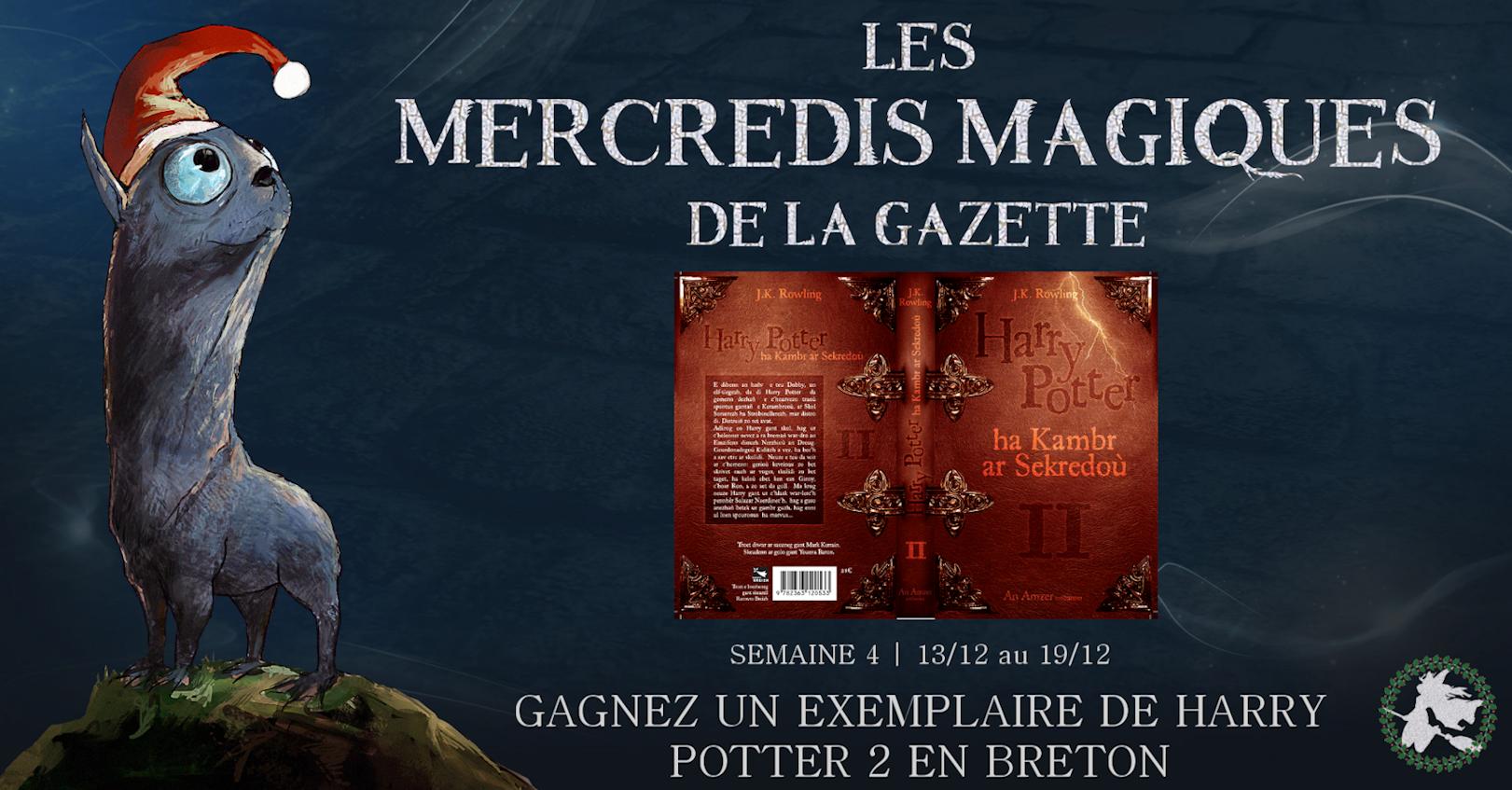 CONCOURS 'Mercredis magiques' : 10 exemplaires de 'Harry Potter et la chambre des secrets' en breton à gagner !