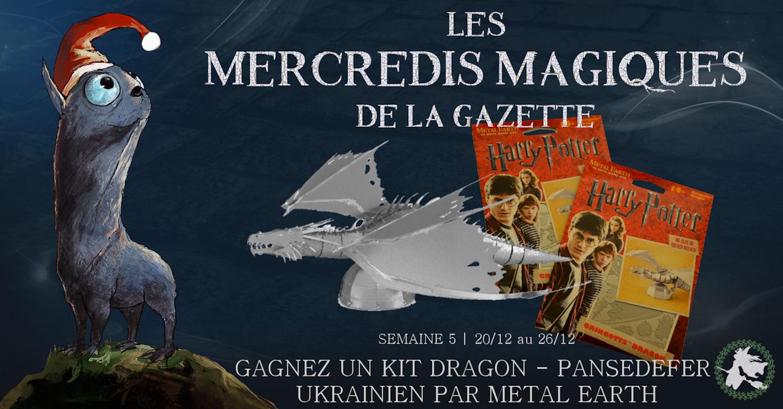 CONCOURS 'Mercredis magiques' : Gagnez deux maquettes de dragon par Metal Earth