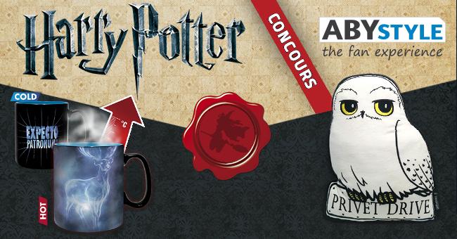 Concours : Gagnez des mugs et des coussins Harry Potter en partenariat avec ABYStyle