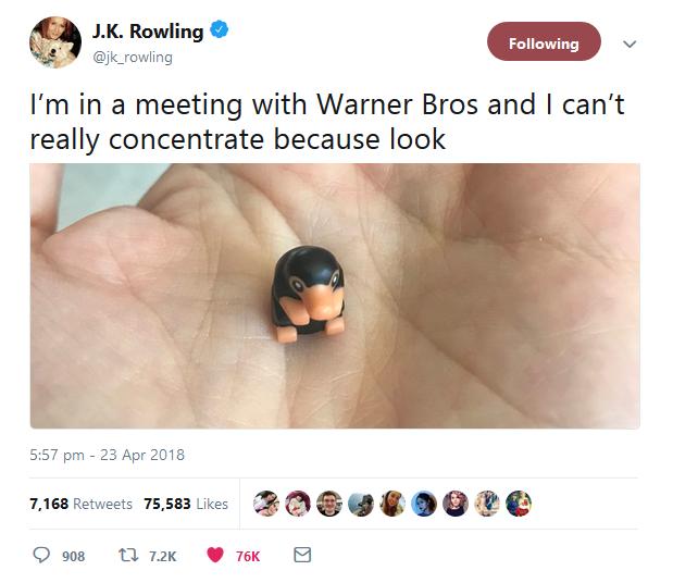 JK Rowling aurait-elle dévoilé le LEGO Niffleur ? [MàJ]